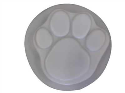 dog cat paw print concrete plaster stepping stone mold 1018