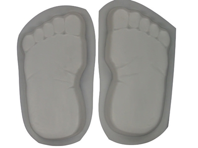 Huge 16in Footprints Bare Feet Stepping Stone Mold Set 1260