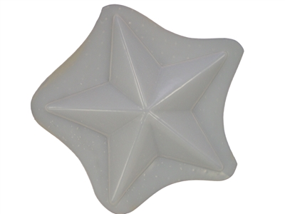 Decorative 7 Inch Star Plaque Concrete Or Plaster Mold 7211