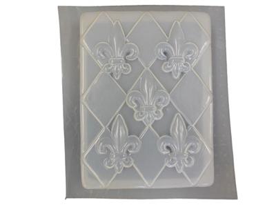 Fleur De Lis Concrete Plaque Stepping Stone Mold 1020