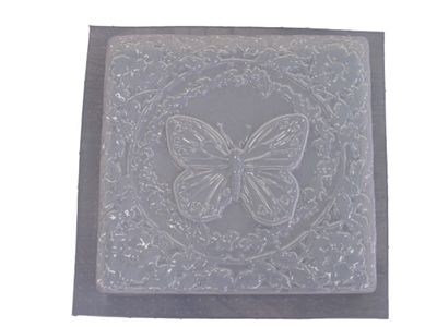 Butterfly Flowers Concrete Stepping Stone Mold 1067