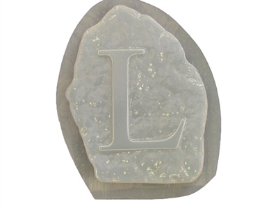 Alphabet Letter H Stepping Stone Plaster or Concrete Mold 1217 Moldcreations