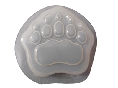 Bear Paw Print Soap Or Plaster Ornament Mold 4645