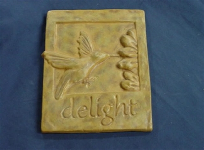 Hummingbird Plaque Concrete Or Plaster Mold 7061