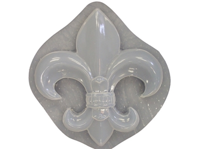 Huge Fleur De Lis Plaque Plaster or Concrete Mold  7227